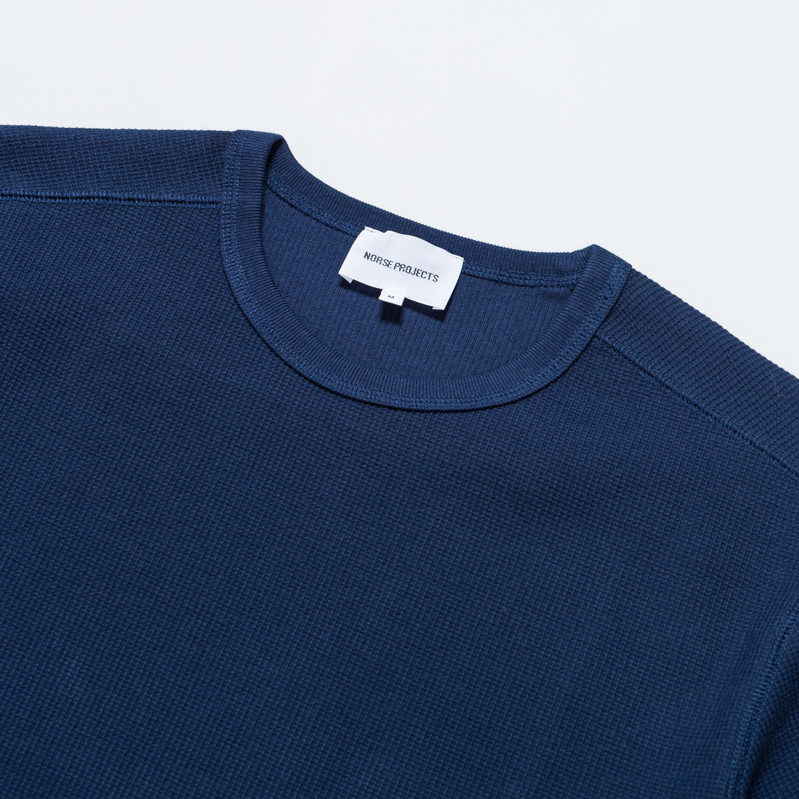 Norse Projects - Johannes Compact Waffle SS - Navy - Up There