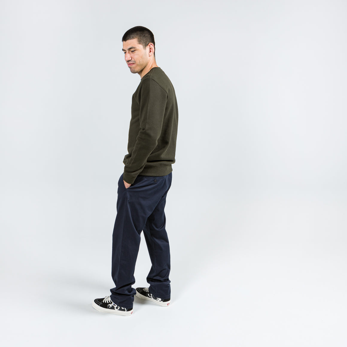 Norse Projects - Aros Regular Light Stretch - Dark Navy - Up There