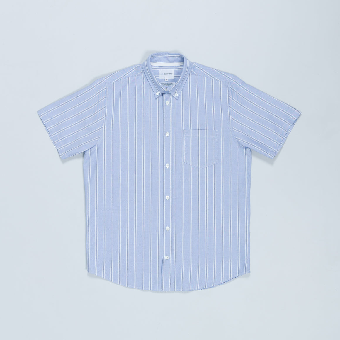Theo Oxford SS - Pale Blue Multi Stripe - Up There