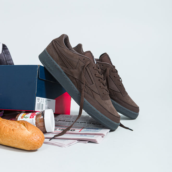 Reebok - Club C Revenge x Adsum - Dark Brown - Up There