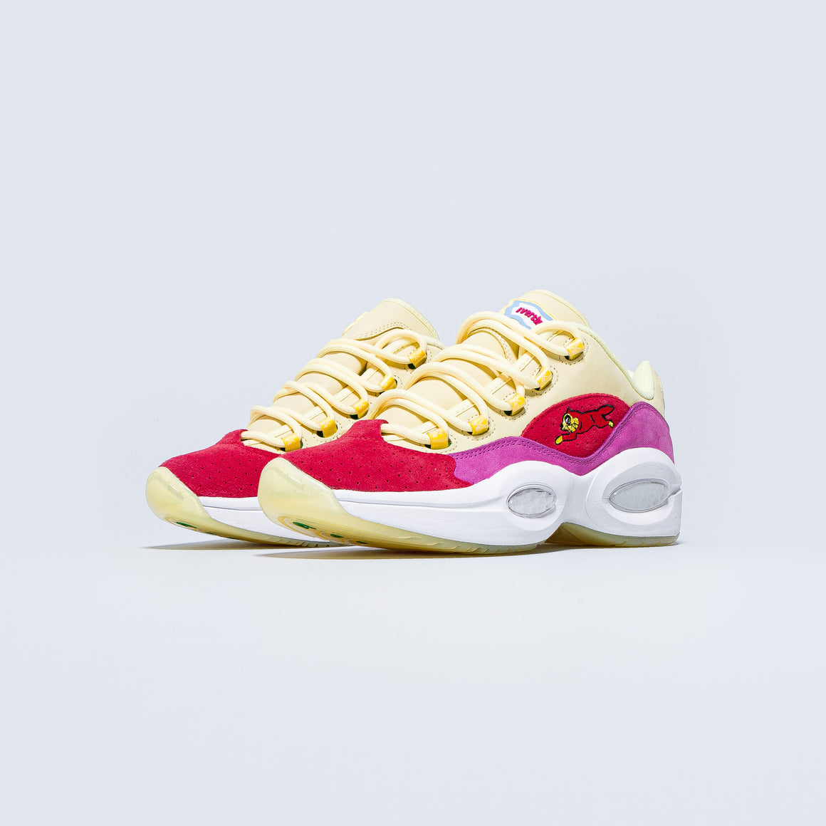 Reebok - Question Low x Icecream - Filtered Yellow/Stadium Red/Ultraberry - Up There