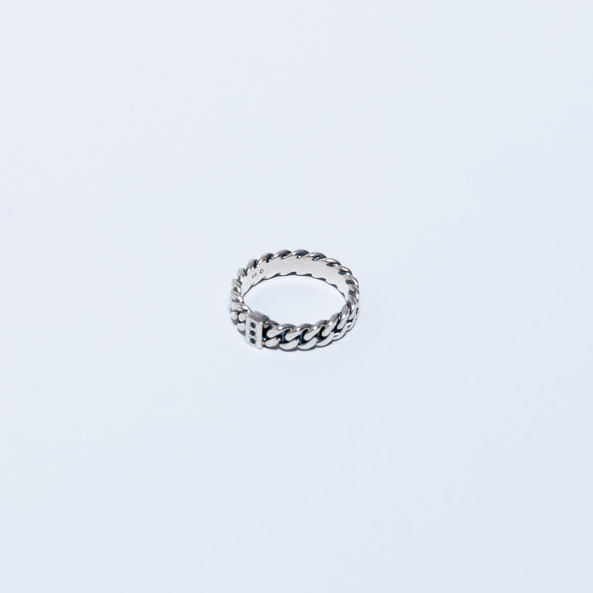Chain Ring Slim Spinel - 925 Sterling Silver - Up There