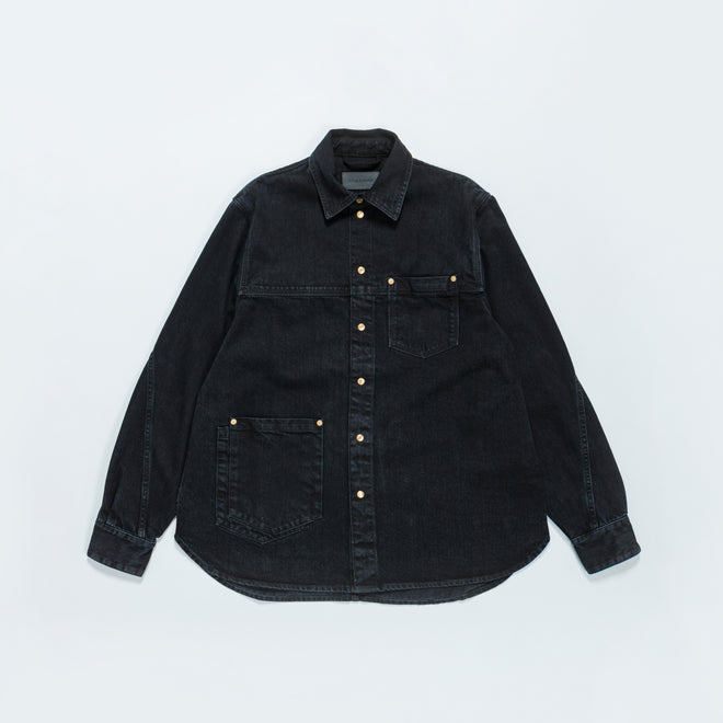 Tom Wood - Coby Shirt - Used Black - Up There