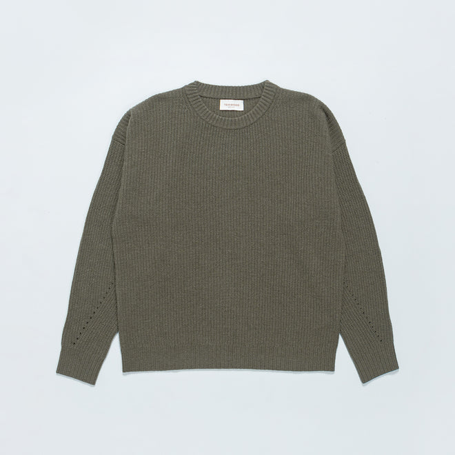 Tom Wood - Kelvin Sweater - Pale Pine - Up There