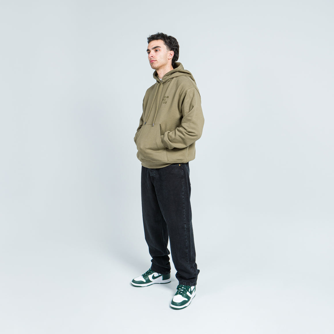 Tom Wood - Neal Hoodie - Olive - Up There