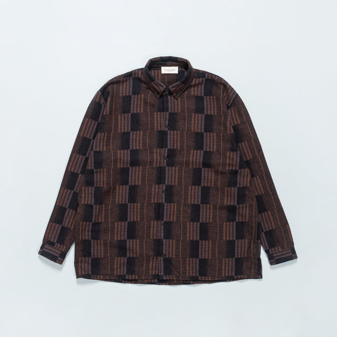 Tom Wood - Penrose Shirt - Brown Check - Up There