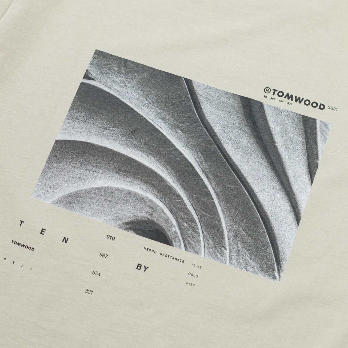 Tom Wood - Rams Tee - Dusty Mint - Up There