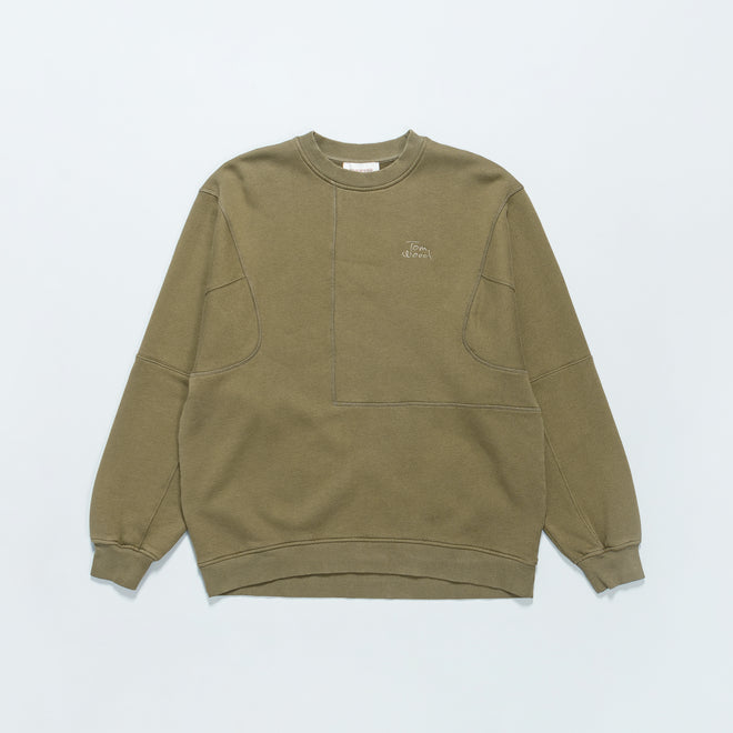 Tom Wood - The Waves Sweater - Olive - Up There