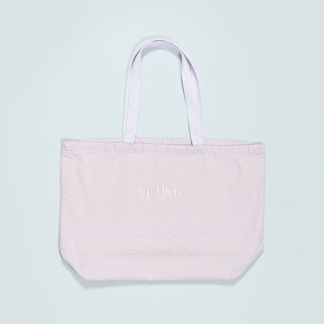 Up There - Canvas Tote Bag - Pink - Up There
