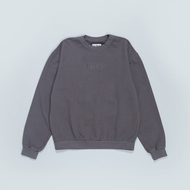 Up There - Heavyweight Pullover Crew - Grey - Up There