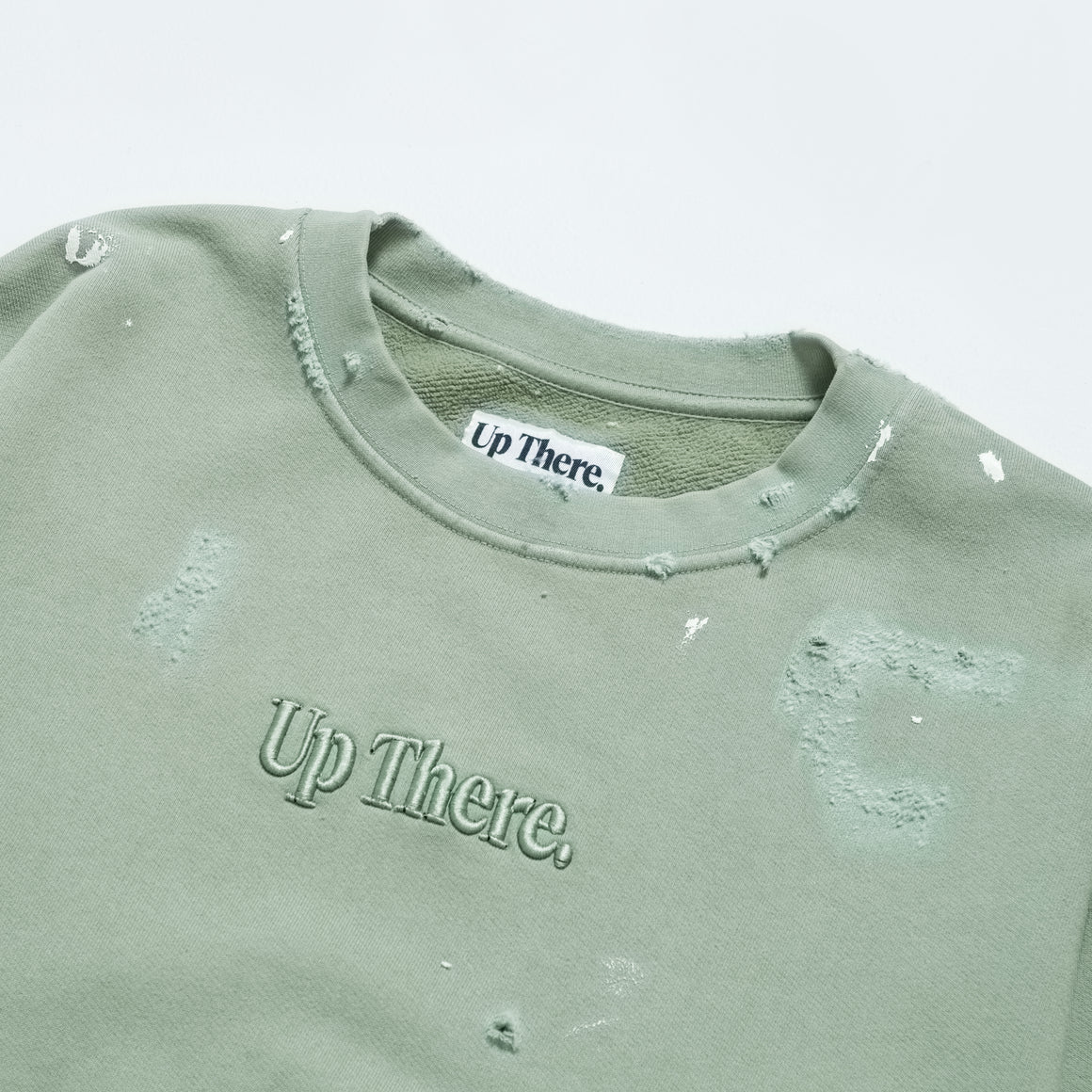 Up There - Heavyweight Pullover Crew Remake - Iceberg - Up There