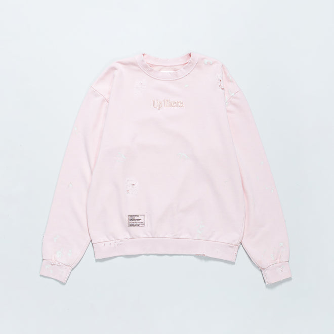 Up There - Heavyweight Pullover Crew Remake - Pink - Up There