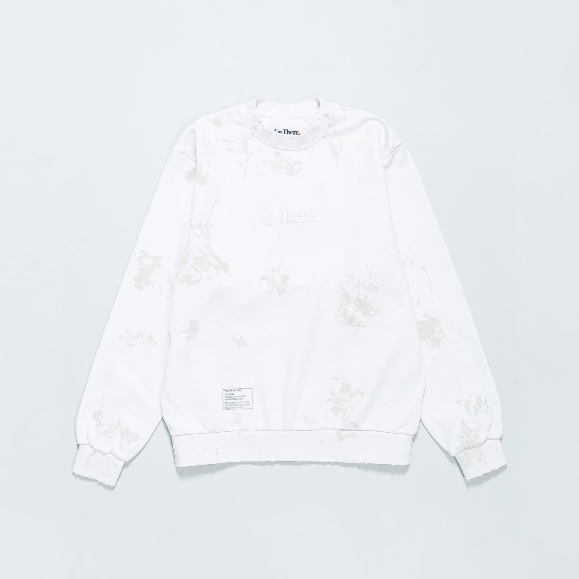Up There - Heavyweight Pullover Crew Remake - White - Up There