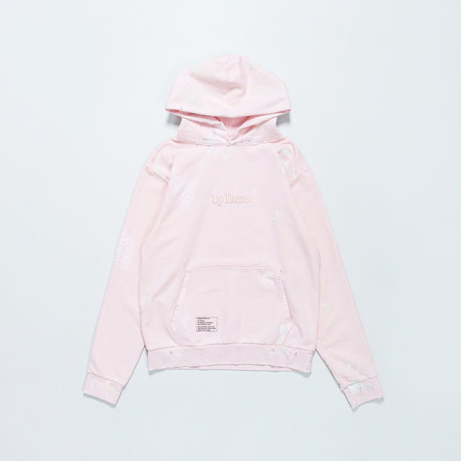 Up There - Heavyweight Pullover Hoodie Remake - Pink - Up There