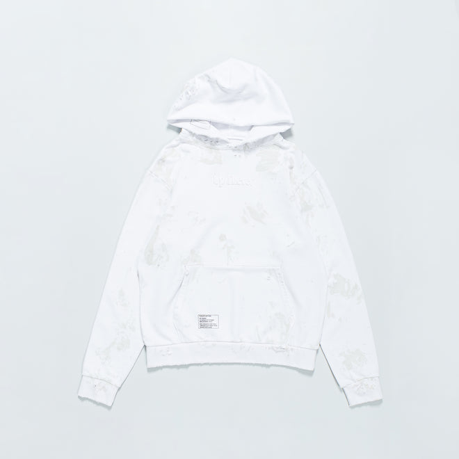 Up There - Heavyweight Pullover Hoodie Remake - White - Up There