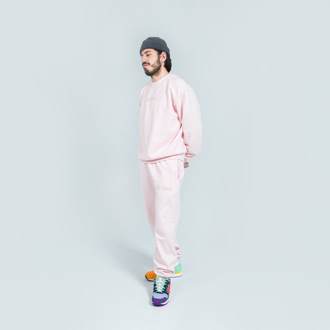 Up There - Heavyweight Pullover Crew - Pink - Up There