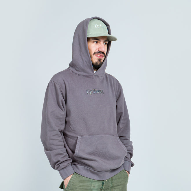 Up There - Heavyweight Pullover Hoodie - Grey - Up There