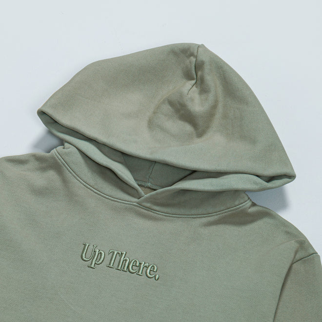 Up There - Heavyweight Pullover Hoodie - Iceberg - Up There