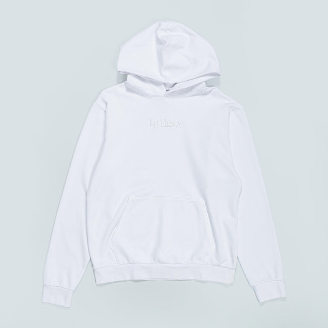 Up There - Heavyweight Pullover Hoodie - White - Up There