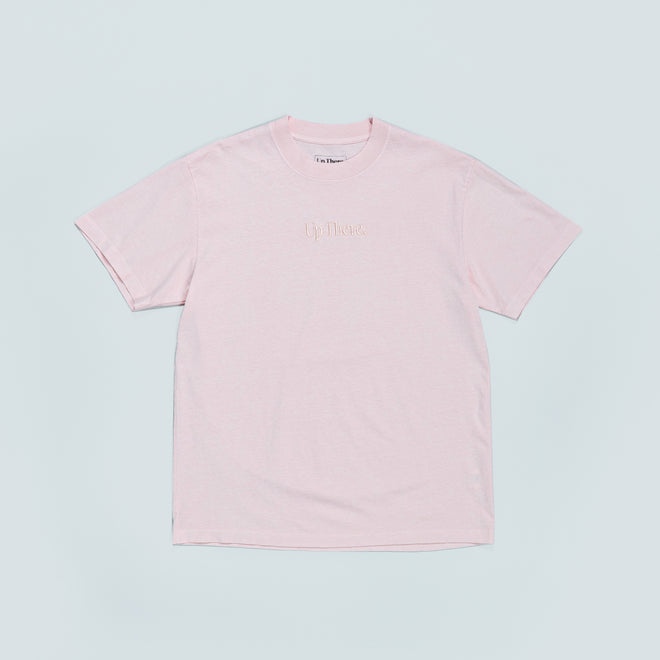 Up There - Short Sleeve Heavyweight Tee - Pink - Up There