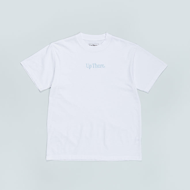 Up There - Short Sleeve Heavyweight Tee - White/Blue - Up There