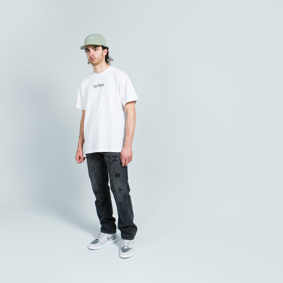 Short Sleeve Heavyweight Tee - White/Grey