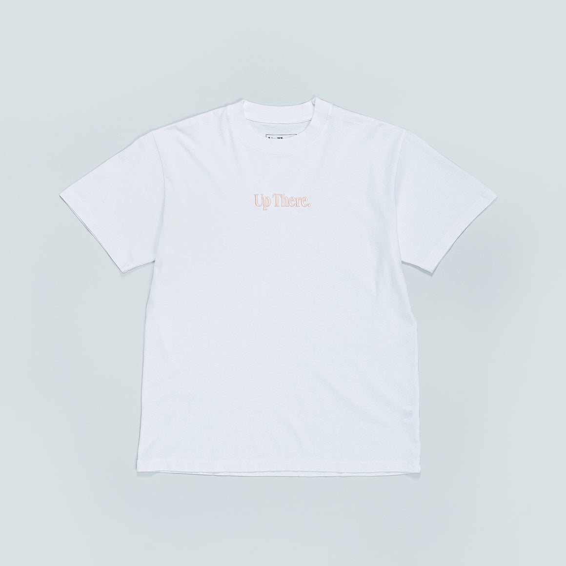 Up There - Short Sleeve Heavyweight Tee - White/Pink - Up There