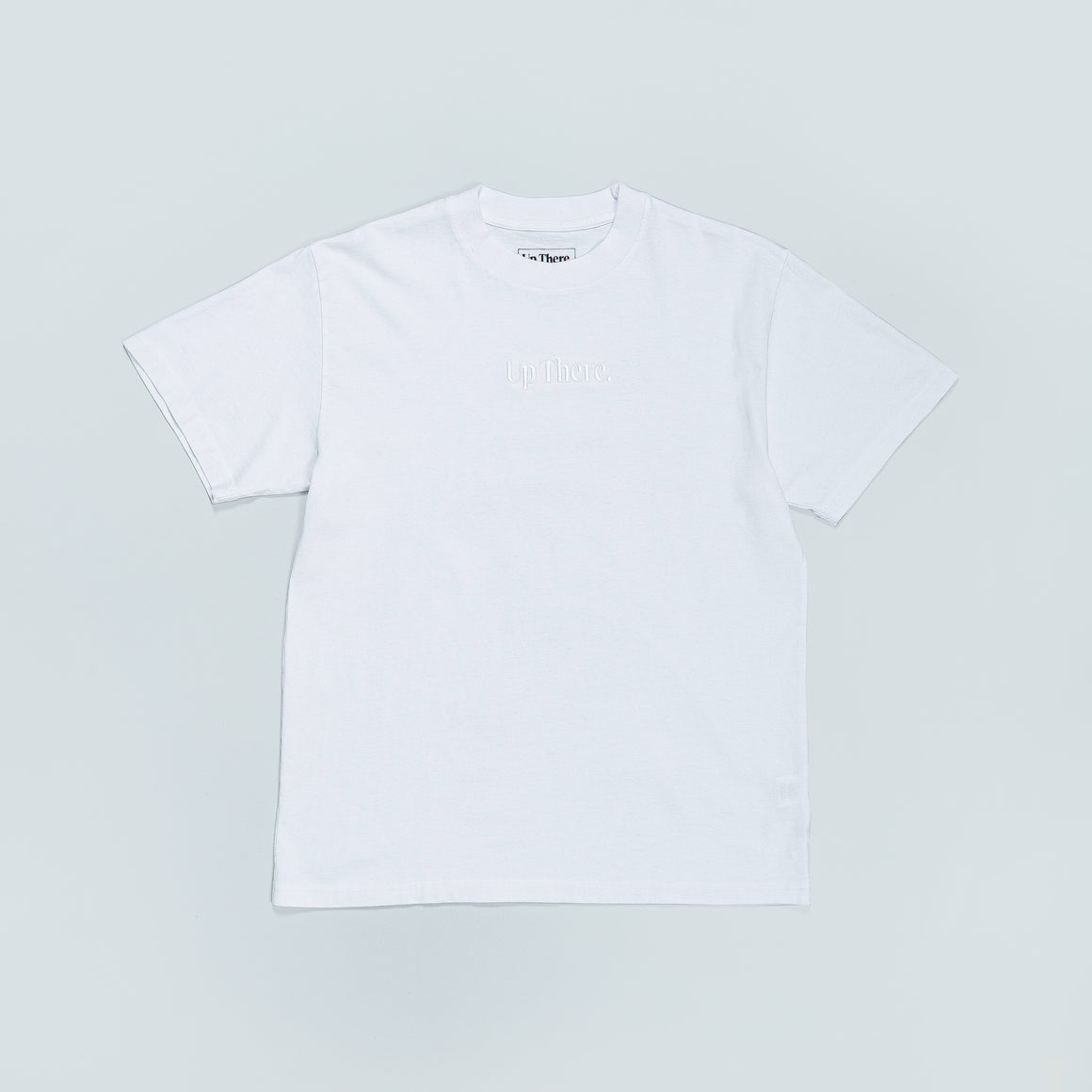 Up There - Short Sleeve Heavyweight Tee - White/White - Up There