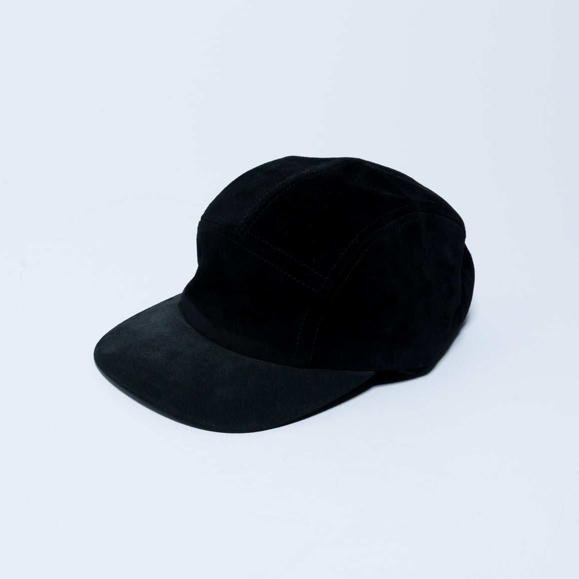 5 Panel Suede Cap - Black - Up There