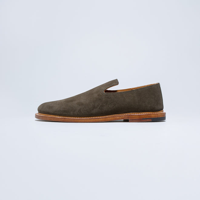 Viberg - Slipper - CF Stead Earth Calf Suede - Up There