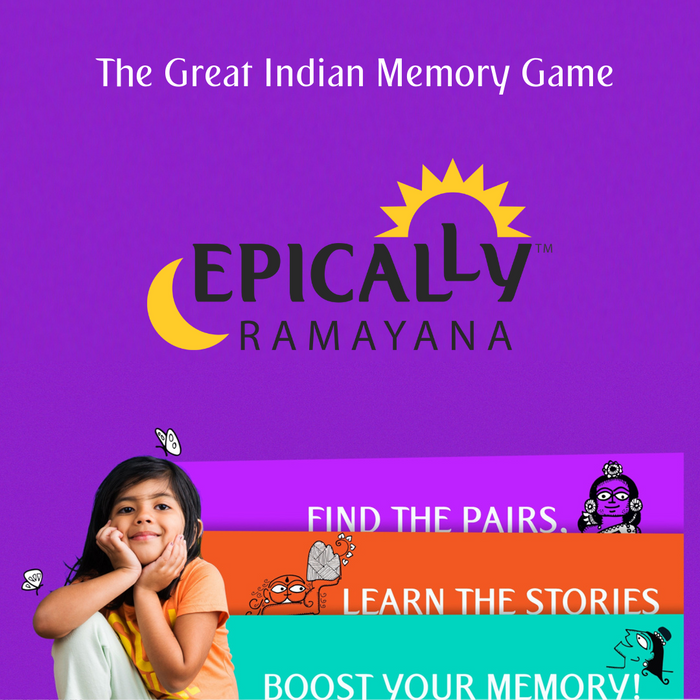 Epically Ramayana Memory Matching Game for Kids | Return Birthday Gifts | Indian Gift Games  by Devdutt Pattanaik ( Set of 2)