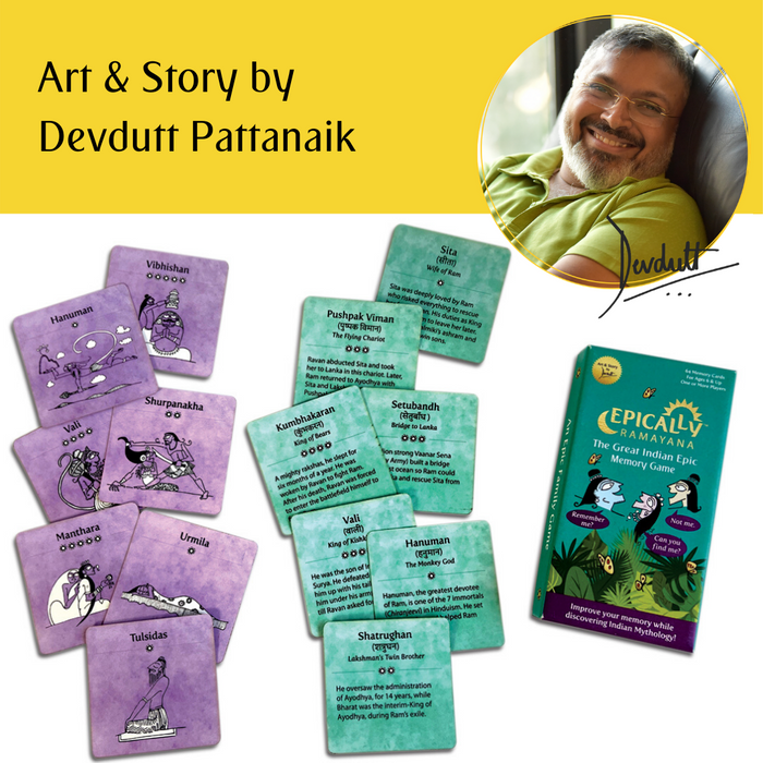Epically Ramayana Memory Matching Game for Kids | Return Gifts for Birthday I Indian Gift Games by Devdutt Pattanaik