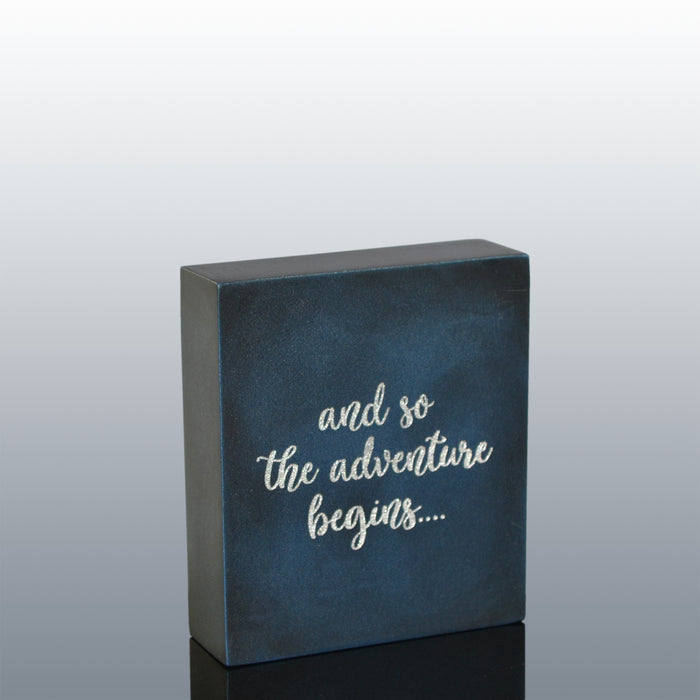 Inspirational Quote Gift  : And So The Adventure Begins