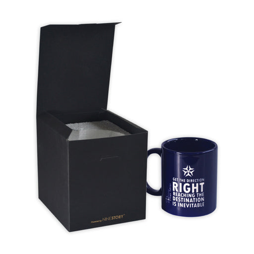 Motivational Quote Coffee Mug : Get The Direction Right (Single Side Engraving)