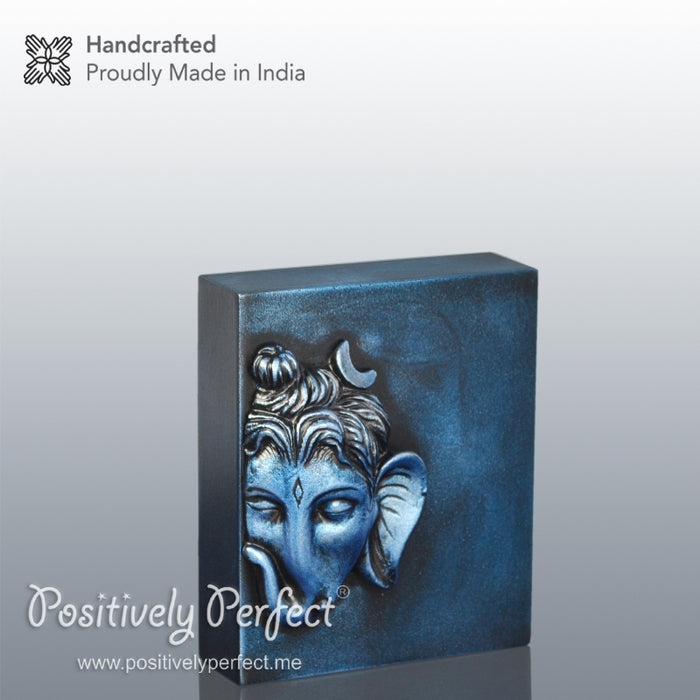 Devotional Gift Online Ganesh Ji Murti for home and Office (Majestic Blue)