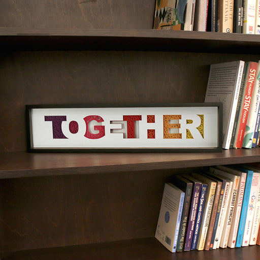 Together Gift for Team Member, Inspirational Motivational Wall Art , Creative Award for Leaders