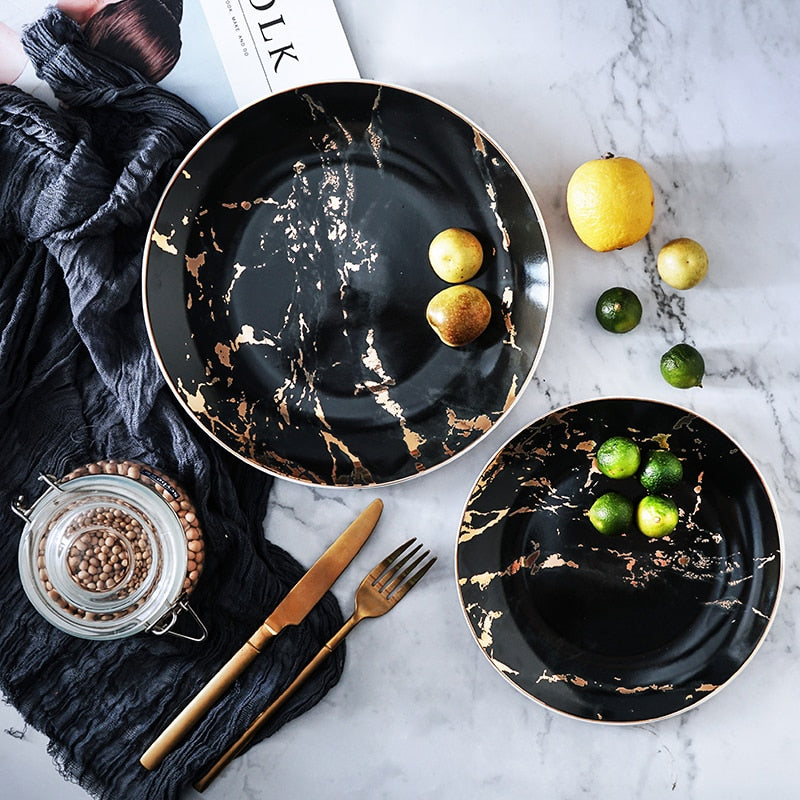 Marble Style  Plates - The Home Empire