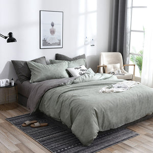 Simple Solid Duvet Cover Set - The Home Empire