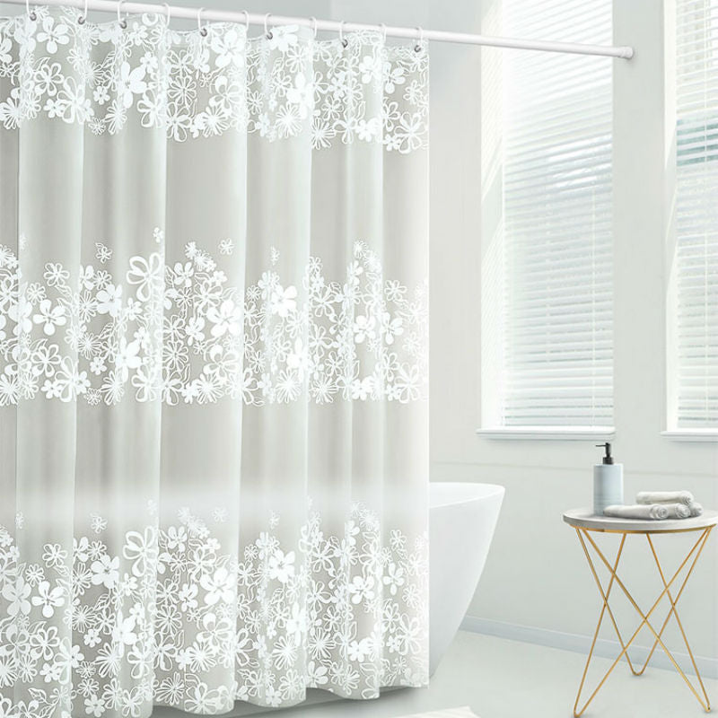 Transparent Waterproof Shower Curtains - The Home Empire