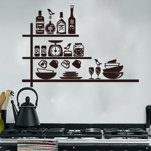 Creative Crockery Wall Sticker - The Home Empire