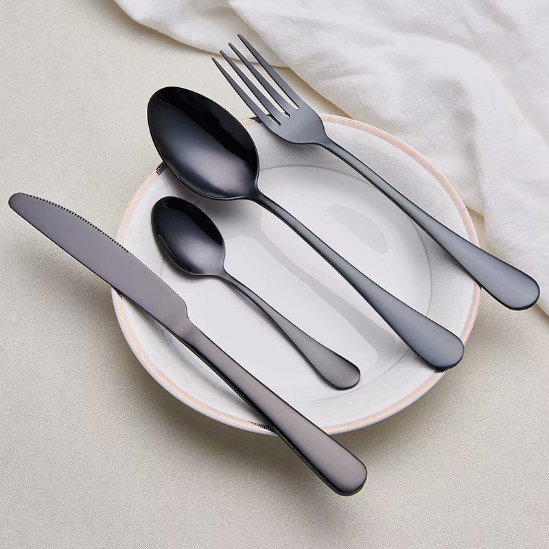 Matt Black Cutlery Set - The Home Empire