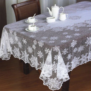 White Lace Tablecloth - The Home Empire