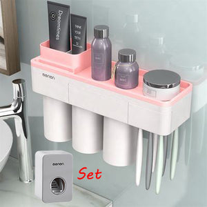 Magnetic Adsorption Toothbrush Holder - The Home Empire