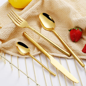 Gold Mirror Cutlery Set - The Home Empire
