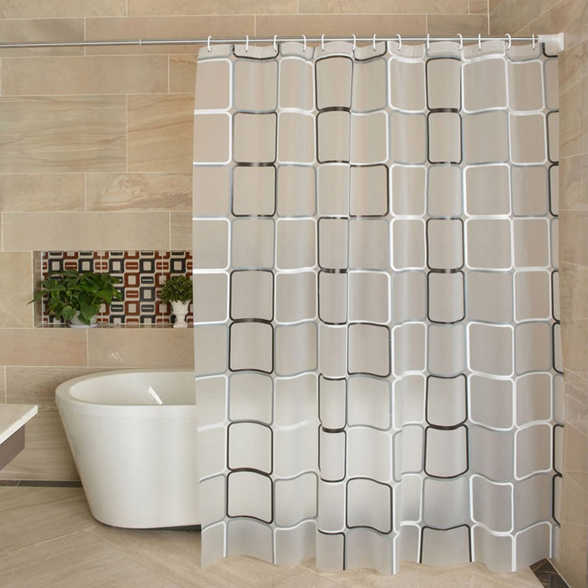 Cube Shower Curtain - The Home Empire