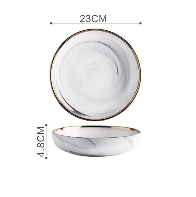 Agathos Incited Dinner Plates Set - The Home Empire