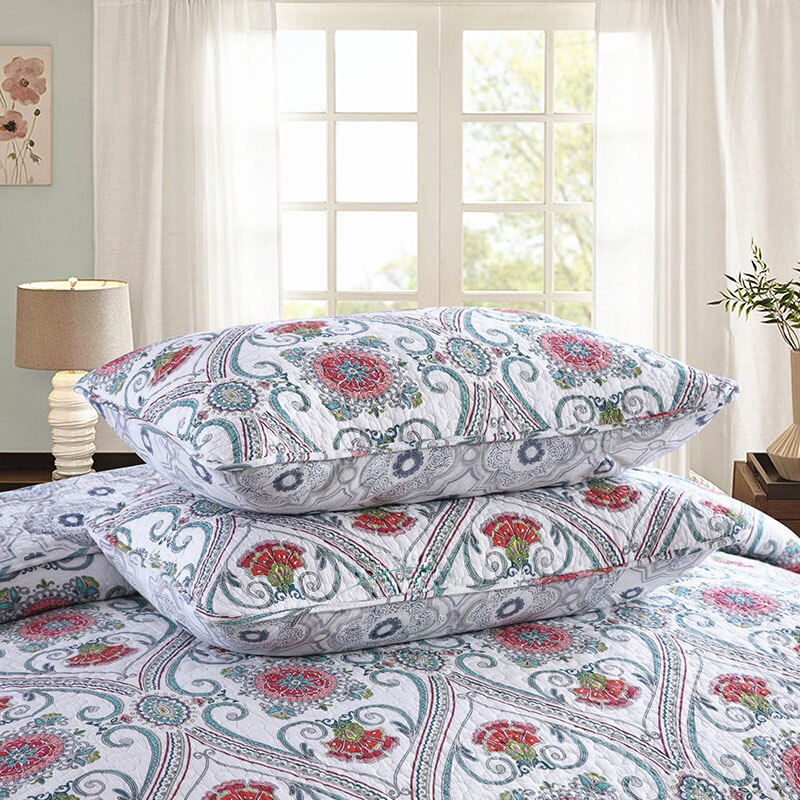 Floral Pattern Quilt Set - The Home Empire