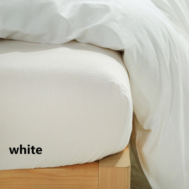 Solid Color Fitted Bedsheet - The Home Empire