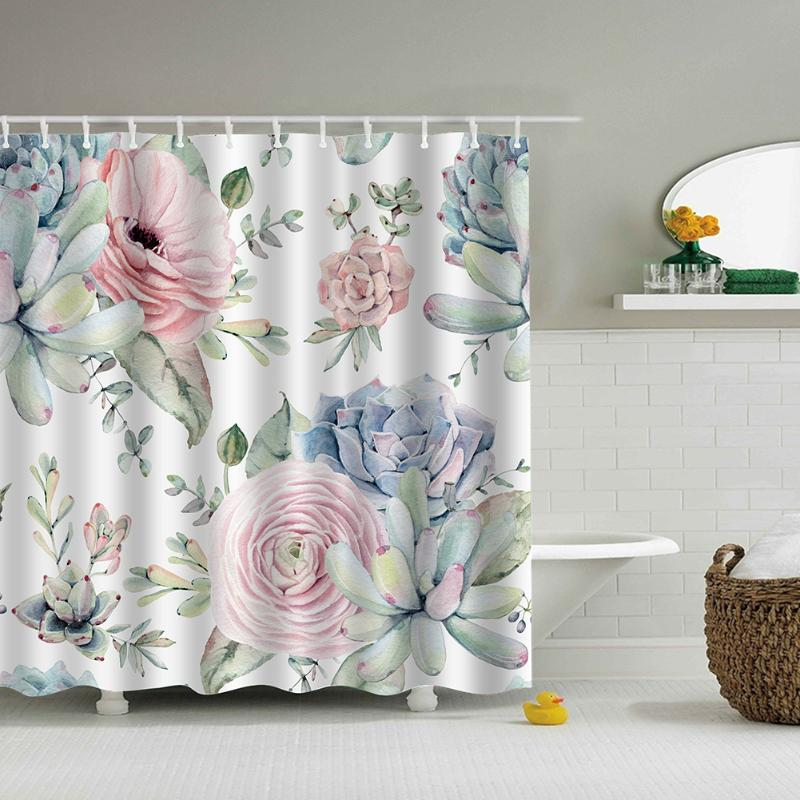 Green Leaves Marine Shower Curtain - The Home Empire