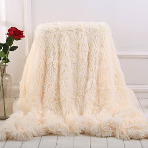 Double-layer Shaggy Throw - The Home Empire